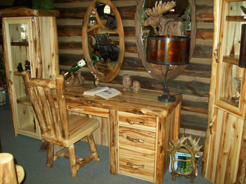 williams log cabin furniture desks and office furniture