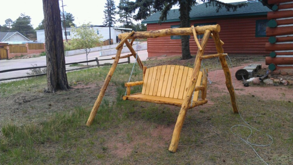 Outdoor Log Furniture - Williams Log Cabin Furniture - Outdoor Log Furniture