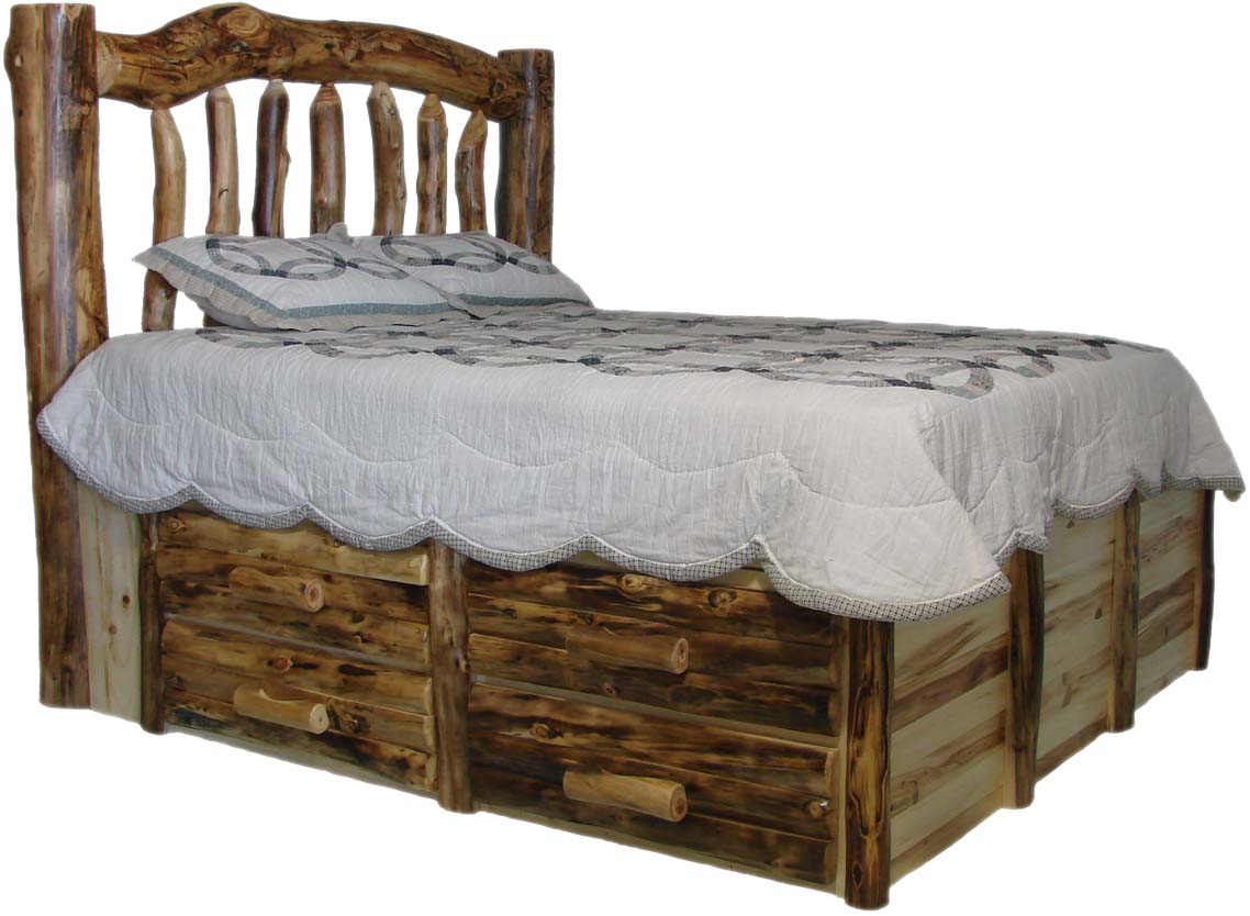 williams log cabin furniture colorado aspen log beds headboards and frames