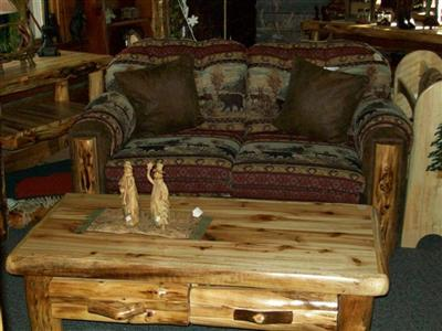 Accent Chairs  Living Room on Log Living Room   Williams Log Cabin Furniture Colorado Rustic Log