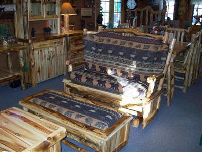 log living room furniture.  Williams Log Cabin Furniture Living Room